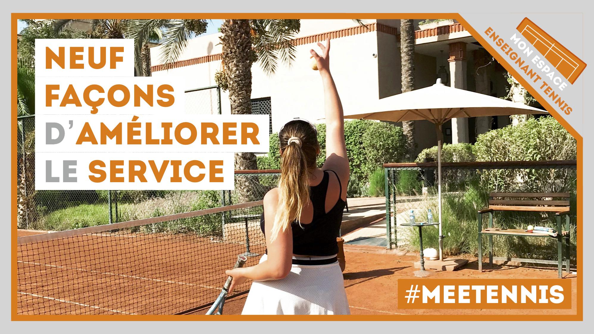 améliorer service tennis