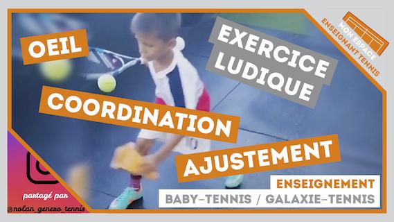 exercice coordination oeil ajustement galaxie tennis ados
