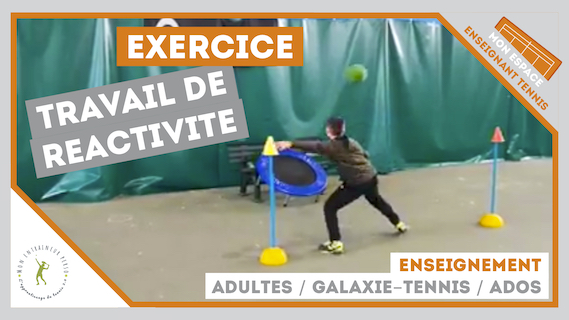 exercice reactivite galaxie tennis ados