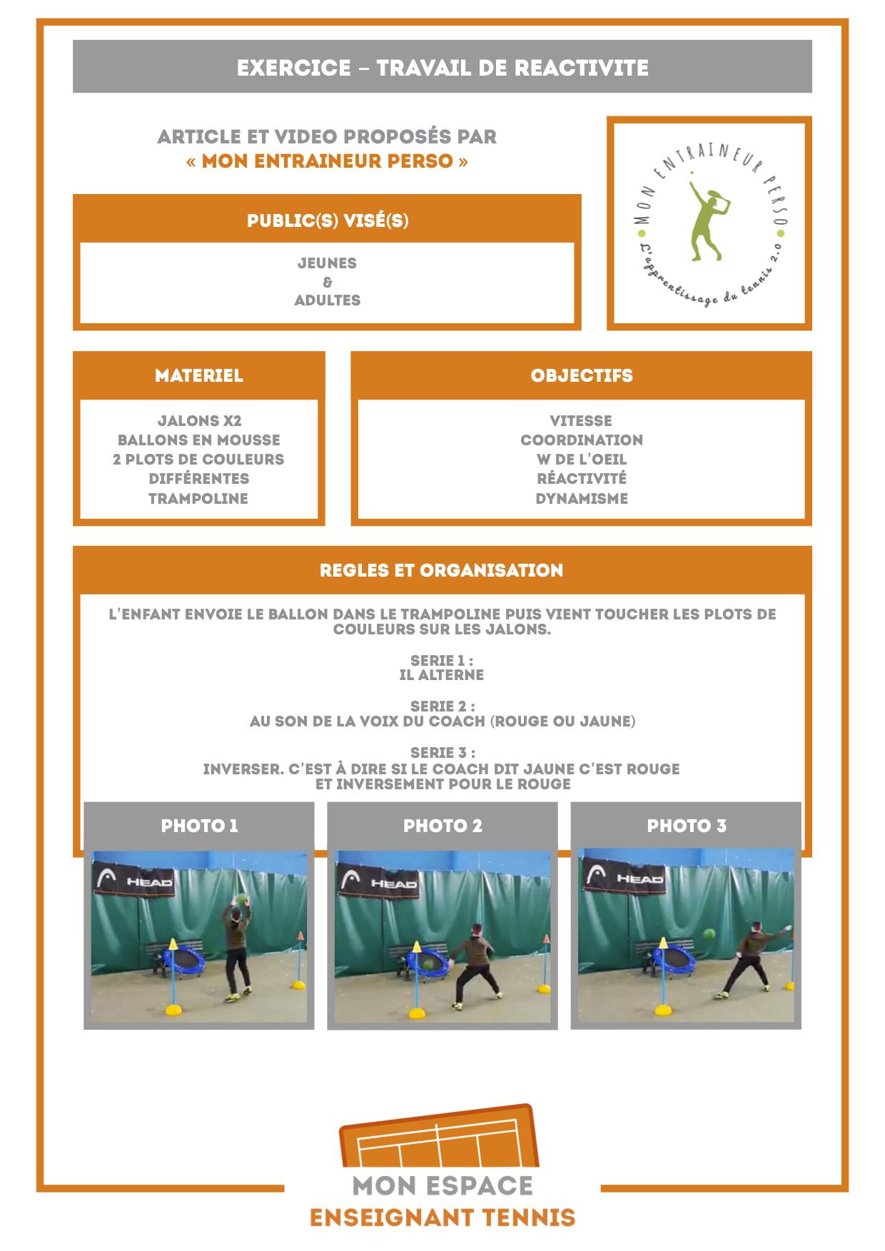 exercice reactivite coup droit galaxie tennis ados